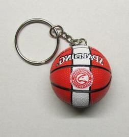 NBA Basketball Atlanta HAWKS Spalding Ball KEY CHAIN Ring Ke