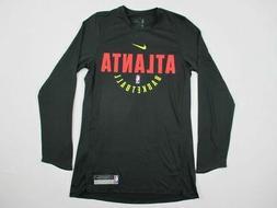 Atlanta Hawks Nike Long Sleeve Shirt Men's Black Dri-Fit New