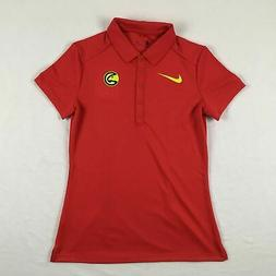 Atlanta Hawks Nike Polo Shirt Women's Red Poly New Small