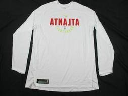 NEW Nike Atlanta Hawks - White Poly Long Sleeve Shirt