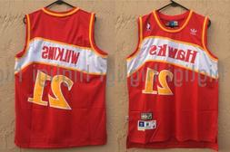 NWT Dominique Wilkins #21 NBA Atlanta Hawks Swingman Throwba