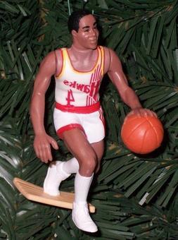 Spud Webb ATLANTA HAWKS Christmas tree Ornament NBA basketba