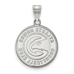 sterling silver nba atlanta hawks large pendant
