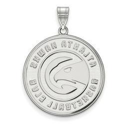 sterling silver nba atlanta hawks xl pendant