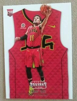 TRAE YOUNG 2018-19 Threads RED Jersey RC Rookie card Stateme