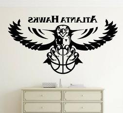 Atlanta Hawks Wall Decal Vinyl Sticker NBA Emblem Basketball